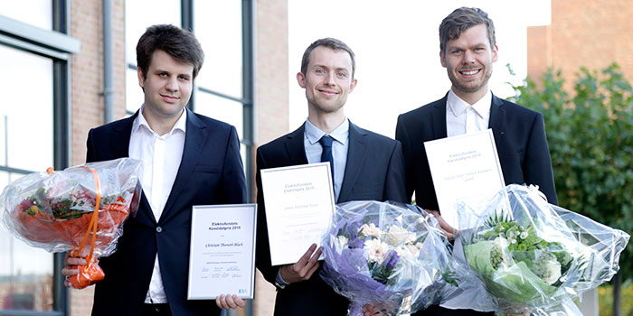 From left Christian Thorseth Blach, Søren Helstrup Kvist and Nikolaj Kammersgaard (Photo: Henrik Frydkjær)