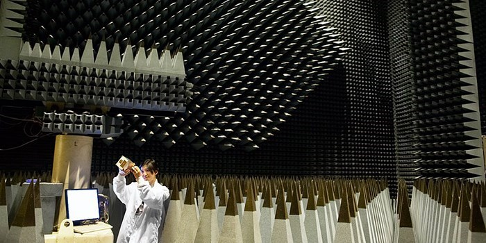 Radio anechoic chamber - Photo: Mikkel Adsbøl